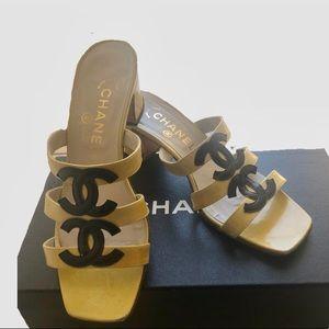 Chanel Logo Sandals